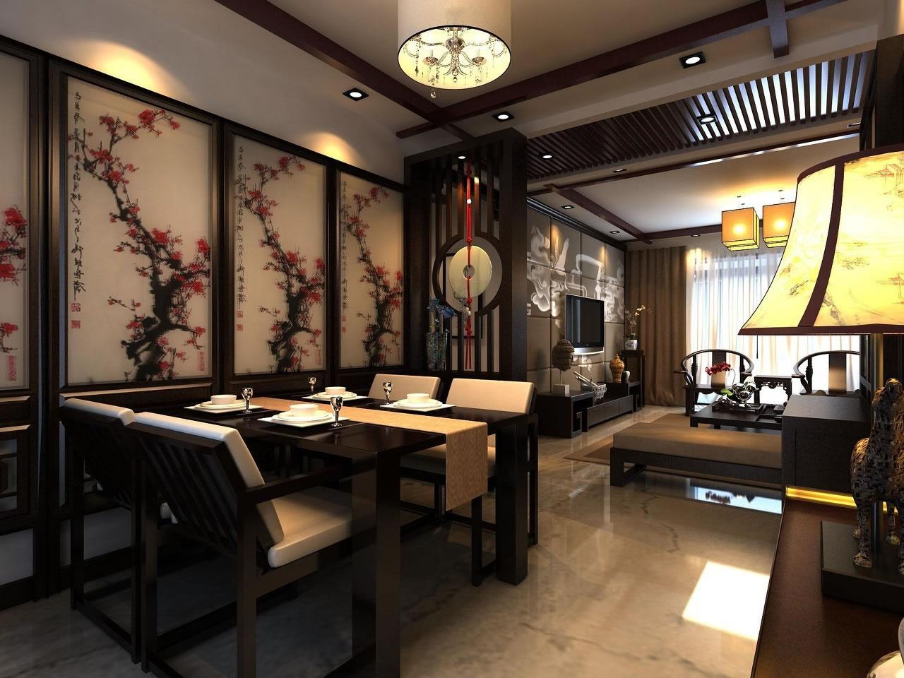 中式装修效果图推荐 中式家装效果图大全欣赏